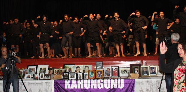 A haka sets the scene for Saturday's historic signing of the Agreement in Principle of the Ngati Kahungunu ki Wairarapa Tamaki Nui-a-Rua Treaty of Waitangi settlement in Dannevirke.