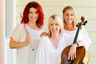 From left, Dana Parkhill, Paula Sugden and Emily Cargill are Confetti. Photo / Warren Buckland
