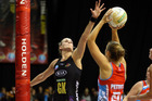 Magic's Leana de Bruin and Swifts Susan Pettitt in action during the ANZ Champs semi final netball match between the Magic and Swifts last year. Photo/Michael Bradley