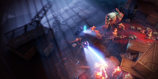 Screengrab from Alienation, Playstation 4 game.