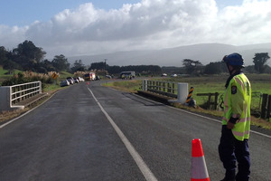 Emergency services at the scene of a fatal crash in Northland today. PHOTO/KRISTIN EDGE
