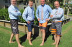Waipuna Hospice chief executive Richard Thurlow, Health Minister Jonathan Coleman, National MP Todd Muller and Waipuna Hospice Board Chairman Mark Tingey.