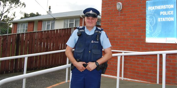 South Wairarapa's new full-time sergeant Richie Day is not afraid of a challenge. PHOTO/ALISA YONG
