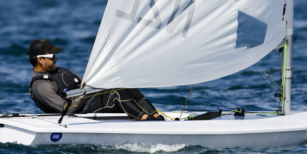 Sam Meech in action during the ISAF Sailing World Championships. Photo / Getty