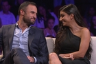 Jordan Mauger with Naz during The Bachelor's Women Tell All special. Photo/TV3