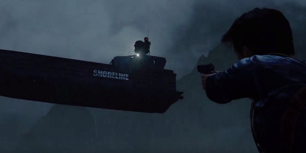 Loading A glitch in the newly released Uncharted 4 video game sent a boat flying up into the air.