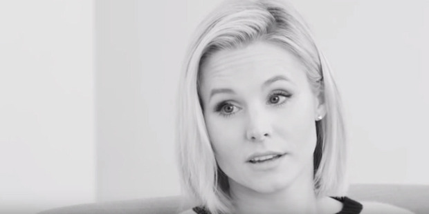 Actress Kristen Bell opens up about her personal issues in an interview with Sam Jones.
