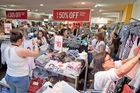 SPEND UP: Bay shoppers spent $297 million on Eftpos and credit card transactions last month.PHOTO/FILE