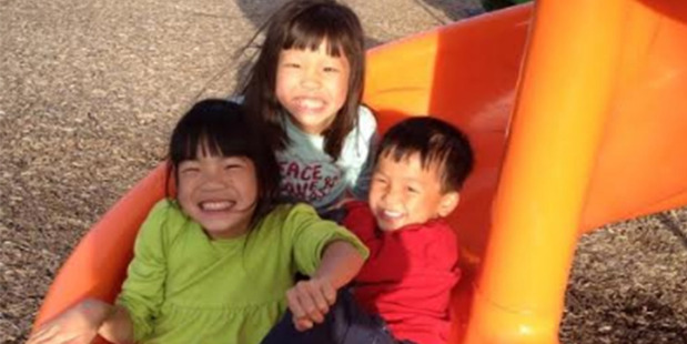 Aubrey, Maya and Noah Lumpkins; at nine years old, Aubrey was the oldest of the children they adopted from China. Photo: Lisa Lumpkins The Washington Post