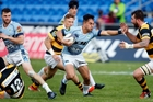 Sam Nock, pictured here playing against Taranaki last season, has made the NZ U20 rugby team. Photo / John Stone