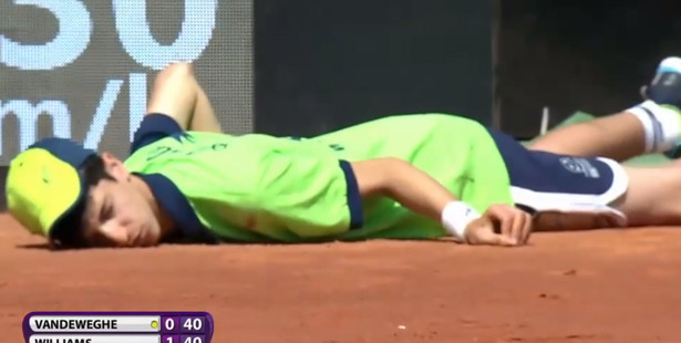 Loading The ball boy that fainted during the Italian Open. Photo / YouTube