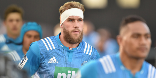 Josh Bekhuis will miss the Blues' encounter with the Lions. Photo / Getty