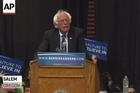 Forging ahead with momentum from two wins in the past week, including West Virginia, Bernie Sanders zeroed in on Oregon's May 17 primary with a rally in the state's capitol city of Salem Tuesday evening before several thousand devoted supporters.