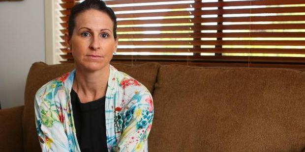 Holly Lacy of Coffs Harbour, who is recovering from burns suffered while using her Thermomix. Photo / Frank Redward, News Corp Australia