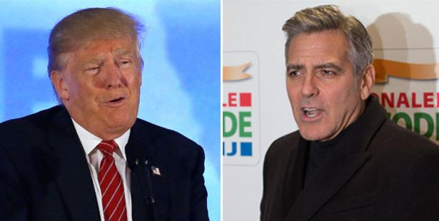 Donald Trump and George Clooney. Photos / AP