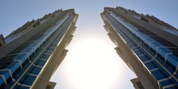 The tallest hotel in the world, The JW Marriott Marquis, Dubai.