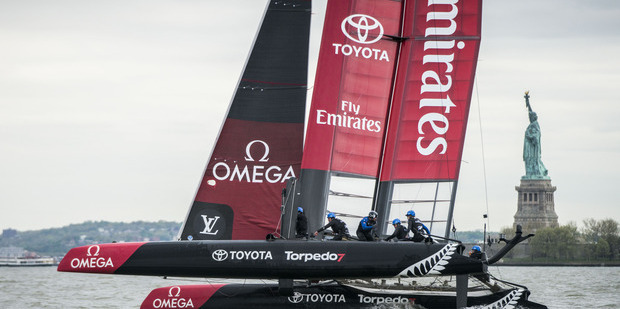 Emirates Team NZ will have to wait to get underway. Photo / Getty