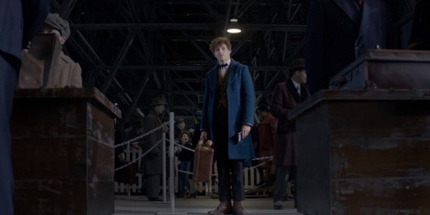 Loading A scene from the trailer for Fantastic Beasts and Where to Find Them, starring Eddie Redmayne.