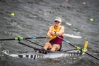 Tauranga rowers Adam Ling, pictured, and Toby Cunliffe-Steel will compete for an Olympic spot in Lucerne later this month.