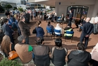 CELEBRATION: People gather for the official opening of the new Rotorua Salvation Army Community Ministries building yesterday. PHOTO/BEN FRASER