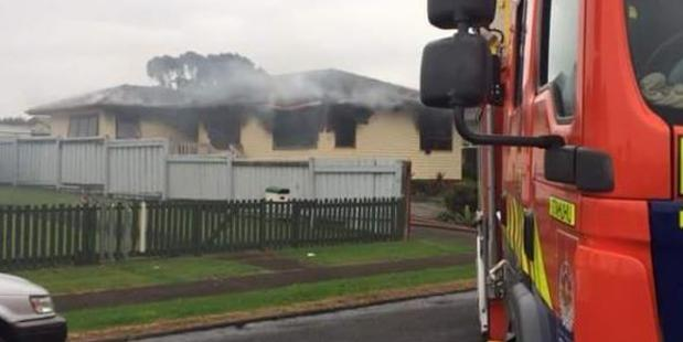 The scene of the fire. Photo: @firecommNZ/Twitter