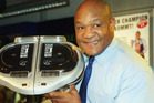 George Foreman with the George Foreman Grill. Photo / Getty