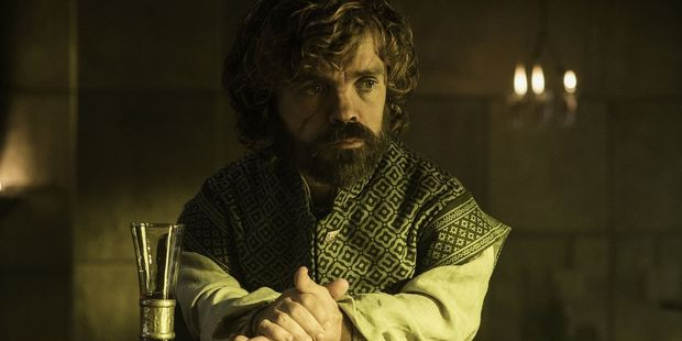 Tyrion Lannister ponders what to drink next in the latest episode of Game of Thrones.