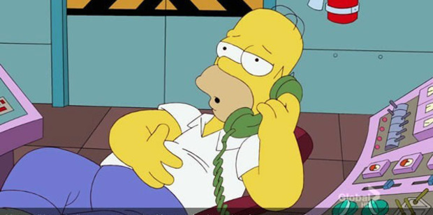 Loading Homer Simpson will be answering question live on the phone.