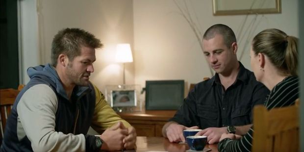 Richie McCaw discusses Fonterra with his sister and brother-in-law, dairy farmers in North Canterbury. Photo / YouTube