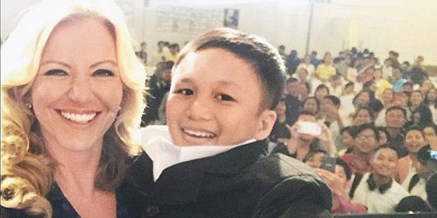 Michelle Mone, speaking at a conference to 3,000 people, thought this was a 6-year-old.