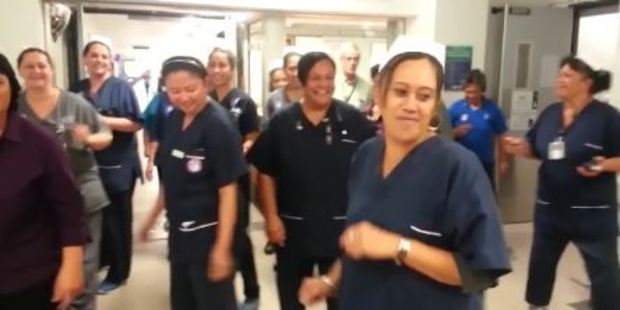 Loading Tauranga nurses celebrate International Nurses Day by dancing. Photo/screegrab