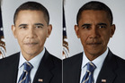 The doctored pictures of Barack Obama. Photos / Robb Willer