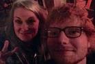 Australian Nisse Perry scores a random selfie with pop star Ed Sheeran in a Queenstown bar. Photo/Supplied