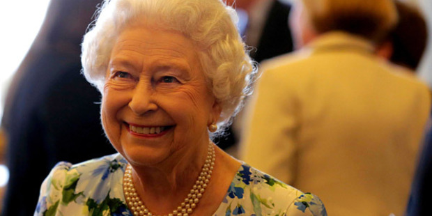 The Queen smiles during the reception. Photo: Getty Images