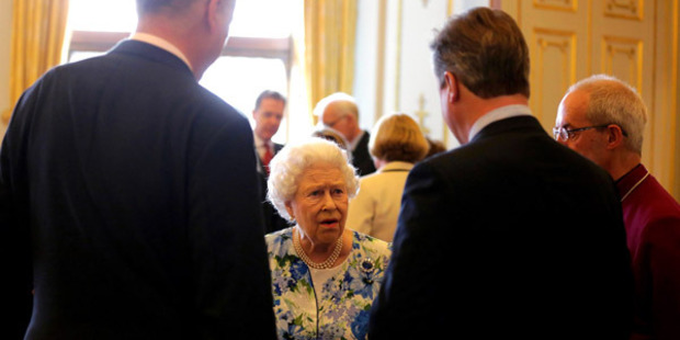 The Queen chatting to David Cameron. Photo: Getty Images