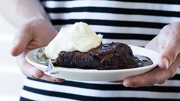 This self-saucing pudding only has 5 ingredients! Photos / Bite magazine