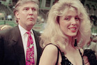 Donald Trump with his first wife, Ivana.