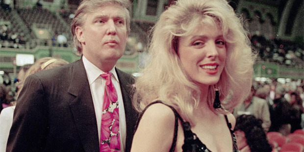 Loading Donald Trump with his first wife, Ivana.