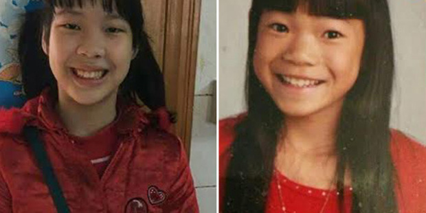 Side-by-side of Avery, left, and Aubrey; Aubrey was adopted by Lisa and Gene Lumpkins in 2013, and now they have discovered her twin sister, Avery, in China. Photo: Lisa Lumpkins/Washington Post