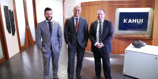 Kahui Legal Partners Damian Stone, Matanuku Mahuika and Jamie Ferguson. The firm now has an office in Rotorua.