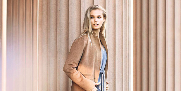 The camel coat is a must-have.