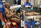 The 'corpse' passed through the x-ray machine without any problems. Photo / TSA