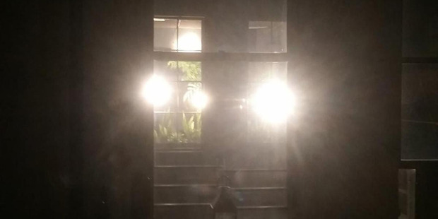 Bright lights shone by TriBeCa resident Suellen Epstein into her Manhattan neighbour's apartment. Photo / Frey & Kozak LLP
