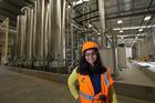 Sheena Thomas, Z Energy senior communications advisor, at the Z Energy Biodiesel plant in South Auckland. Photo / Brett Phibbs