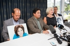 DISAPPOINTED: Antonio Gotingco (second from left) reads a statement to the media in Albany yesterday.PHOTO/NZME