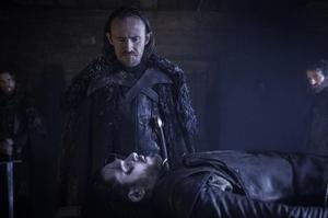 Ben Crompton and Kit Harrington in Game of Thrones.