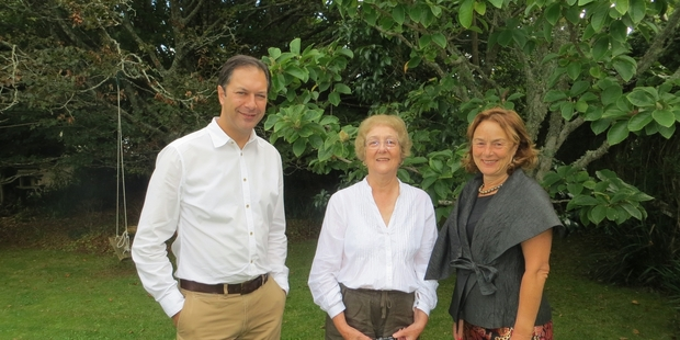 FAMILY MATTERS: The great-great-niece of Henry Sarjeant, Judith Anderson (centre) with Greg Anderson, Sarjeant Gallery senior curator, and Nicola Williams, Sarjeant Gallery Trust chairwoman.PHOTO/SUPPLIED