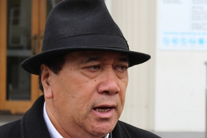 Sonny Tau, outside Southland District Court earlier this month where he apologised after admitting a lie over who shot five protected kukupa.