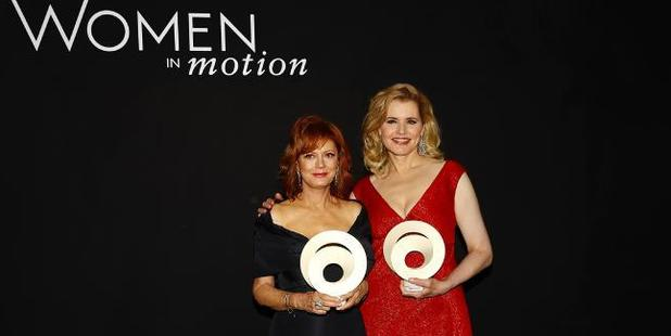 Susan Sarandon and Geena Davis collect some awards in Cannes. Photo / Getty Images