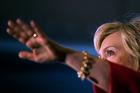 Hillary Clinton in Bowling Green, Kentucky. Photo / AP